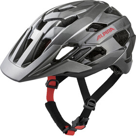 Alpina Anzana Helmet darksilver-black-red